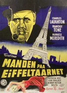 The Man on the Eiffel Tower - Danish Movie Poster (xs thumbnail)
