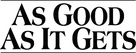 As Good As It Gets - Logo (xs thumbnail)