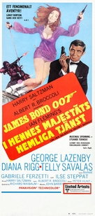 On Her Majesty's Secret Service - Swedish Movie Poster (xs thumbnail)