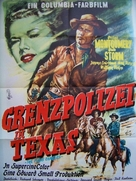 The Texas Rangers - German Movie Poster (xs thumbnail)