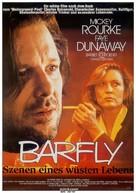 Barfly - German Movie Poster (xs thumbnail)
