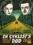 Muerte de un ciclista - Danish Movie Poster (xs thumbnail)