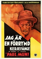 I Am a Fugitive from a Chain Gang - Swedish Movie Poster (xs thumbnail)