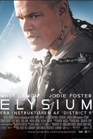 Elysium - Danish Movie Poster (xs thumbnail)