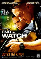 End of Watch - German Movie Poster (xs thumbnail)