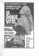 La dolce vita - Dutch Movie Poster (xs thumbnail)