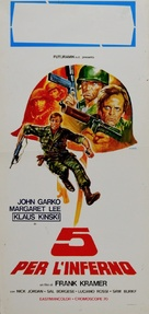 5 per l'inferno - Italian Movie Poster (xs thumbnail)