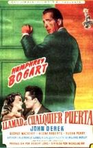 Knock on Any Door - Spanish Movie Poster (xs thumbnail)