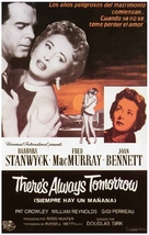There's Always Tomorrow - Spanish Movie Poster (xs thumbnail)