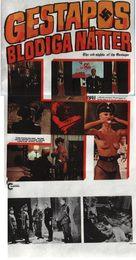Le lunghe notti della Gestapo - Swedish VHS cover (xs thumbnail)