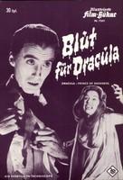 Dracula: Prince of Darkness - German poster (xs thumbnail)