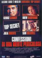 Confessions of a Dangerous Mind - Italian Movie Poster (xs thumbnail)