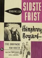 Deadline - U.S.A. - Danish Movie Poster (xs thumbnail)