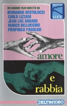Amore e rabbia - Italian VHS movie cover (xs thumbnail)