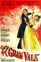 The Great Waltz - Spanish Movie Poster (xs thumbnail)