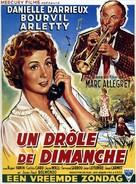 Un drôle de dimanche - Belgian Movie Poster (xs thumbnail)