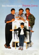 3 Men and a Little Lady - Spanish Movie Poster (xs thumbnail)
