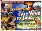 Fair Wind to Java - British Movie Poster (xs thumbnail)