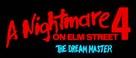 A Nightmare on Elm Street 4: The Dream Master - Logo (xs thumbnail)