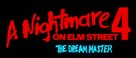 A Nightmare on Elm Street 4: The Dream Master - Logo (xs thumbnail)