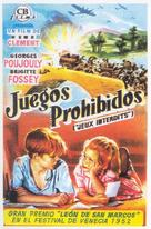 Jeux interdits - Spanish Movie Poster (xs thumbnail)