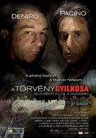 Righteous Kill - Hungarian Movie Poster (xs thumbnail)