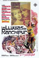 The Rains of Ranchipur - Spanish Movie Poster (xs thumbnail)