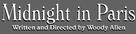 Midnight in Paris - Logo (xs thumbnail)