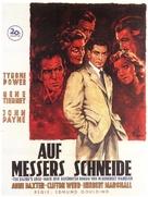 The Razor's Edge - German Movie Poster (xs thumbnail)