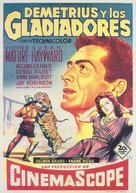 Demetrius and the Gladiators - Spanish Movie Poster (xs thumbnail)
