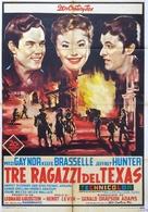 Three Young Texans - Italian Movie Poster (xs thumbnail)