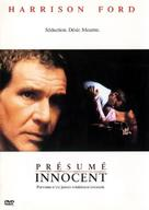 Presumed Innocent - Canadian DVD movie cover (xs thumbnail)