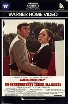 On Her Majesty's Secret Service - German VHS movie cover (xs thumbnail)