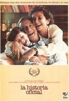 La historia oficial - Spanish Movie Poster (xs thumbnail)