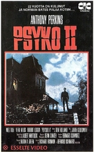 Psycho II - Finnish VHS movie cover (xs thumbnail)