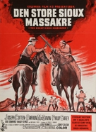 The Great Sioux Massacre - Danish Movie Poster (xs thumbnail)