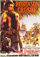 Robinson Crusoe - German Movie Poster (xs thumbnail)