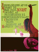 Marat/Sade - Danish Movie Poster (xs thumbnail)