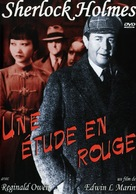 A Study in Scarlet - French DVD movie cover (xs thumbnail)