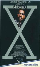 Malcolm X - German VHS movie cover (xs thumbnail)