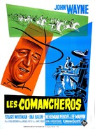 The Comancheros - French Theatrical poster (xs thumbnail)