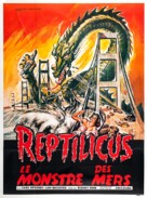Reptilicus - French Movie Poster (xs thumbnail)