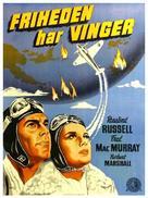 Flight for Freedom - Danish Movie Poster (xs thumbnail)