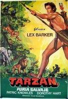 Tarzan's Savage Fury - Spanish Movie Poster (xs thumbnail)