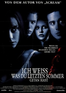 I Know What You Did Last Summer - German Movie Poster (xs thumbnail)
