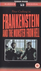 Frankenstein and the Monster from Hell - British VHS cover (xs thumbnail)