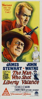 The Man Who Shot Liberty Valance - Australian Movie Poster (xs thumbnail)