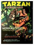 Tarzan and the Green Goddess - Mexican Movie Poster (xs thumbnail)
