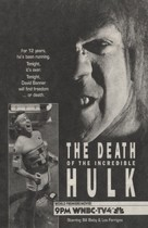 The Death of the Incredible Hulk - poster (xs thumbnail)