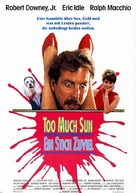 Too Much Sun - German Movie Poster (xs thumbnail)